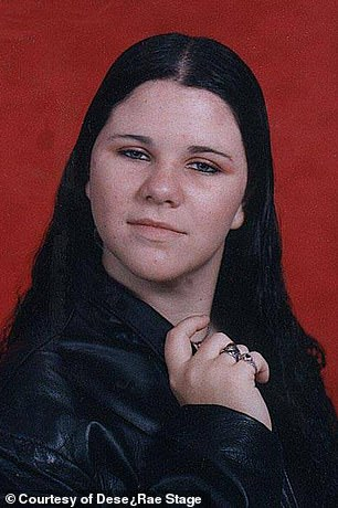 Dese'Rae began to struggle with depression and self-injury, and it continued through high school (pictured) and into her twenties