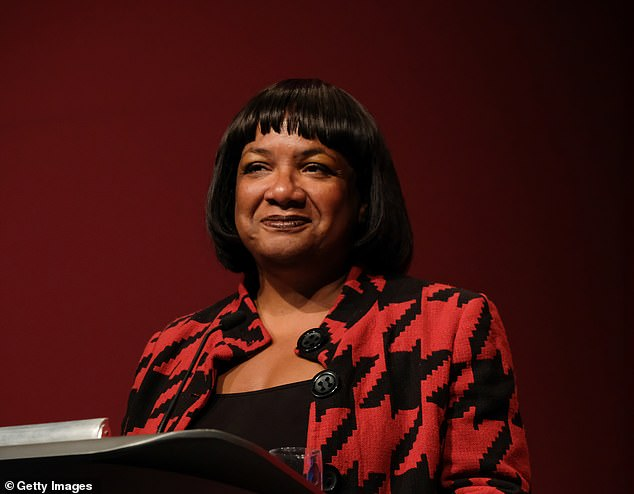 Dianne Abbott (pictured above) had tweeted her disagreement with the new measures