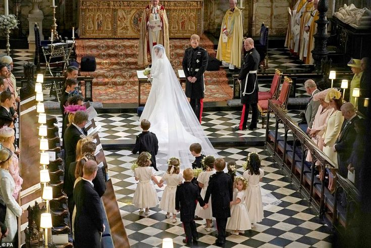 Meghan's big day was held inside the 15th century St George's Chapel in Windsor. The request to use atomisers – hand-held devices for spraying water or perfume – specifically came from Meghan's office at Kensington Palace