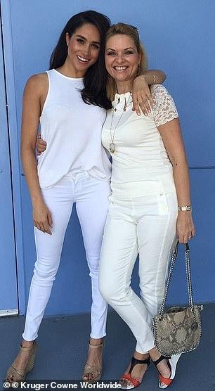Gina Nelthorpe-Cowne (right) says Meghan Markle (left) is set to make a comeback