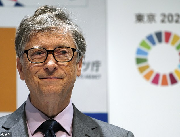 As part of a £2.3million ($3million) experiment partly-funded by Microsoft's Bill Gates (pictured), a team from Harvard University will spray tiny chalk particles into the atmosphere