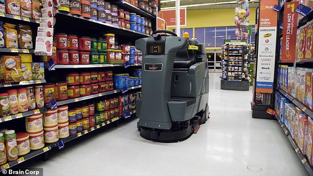 The autonomous janitors can clean floors on their own, even when customers are around, the San Diego startup behind the smart bots said