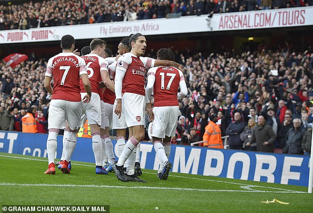 Aubameyang had put Arsenal ahead from the penalty spot and later went on to score a second
