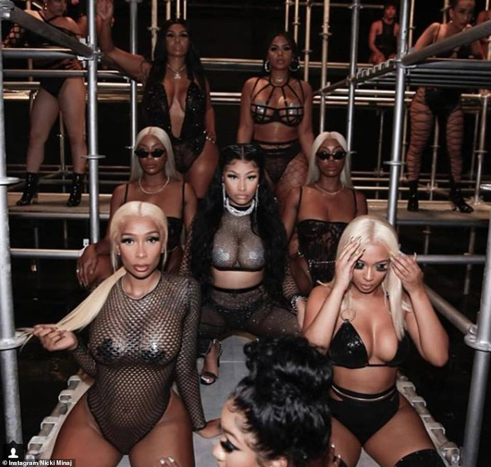 Stirring it: The two bartenders Baddie Gi and Jade, who claim they were the victims of the Angels Strip Club assault, were hired by Nicki Minaj for her new music video