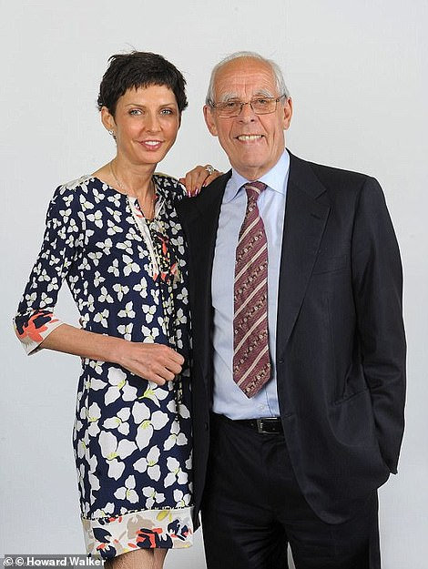 Mrs Coates, pictured with her father Peter, who is also a director of her betting company. Mrs Coates made millions when she mortgaged her father's gambling shop