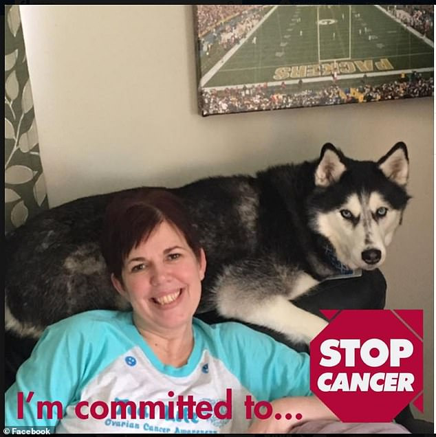 "Mrs. Herfel called Sierra a ""godsend"" after she correctly identified when her cancer had returned in 2015 and again in 2016. This despite having undergone a hysterectomy, a chemotherapy and the removal of the spleen. The couple is depicted on May 4th of last year"