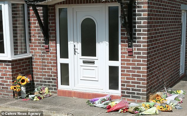 Floral tributes were left outside Samantha's home after her brutal murder