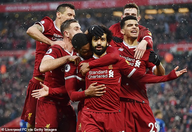 But it was Mo Salah who lifted the Puskas Award for best goal after his strike against Everton