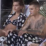 Justin Bieber and Hailey Balwin in Matching PJs