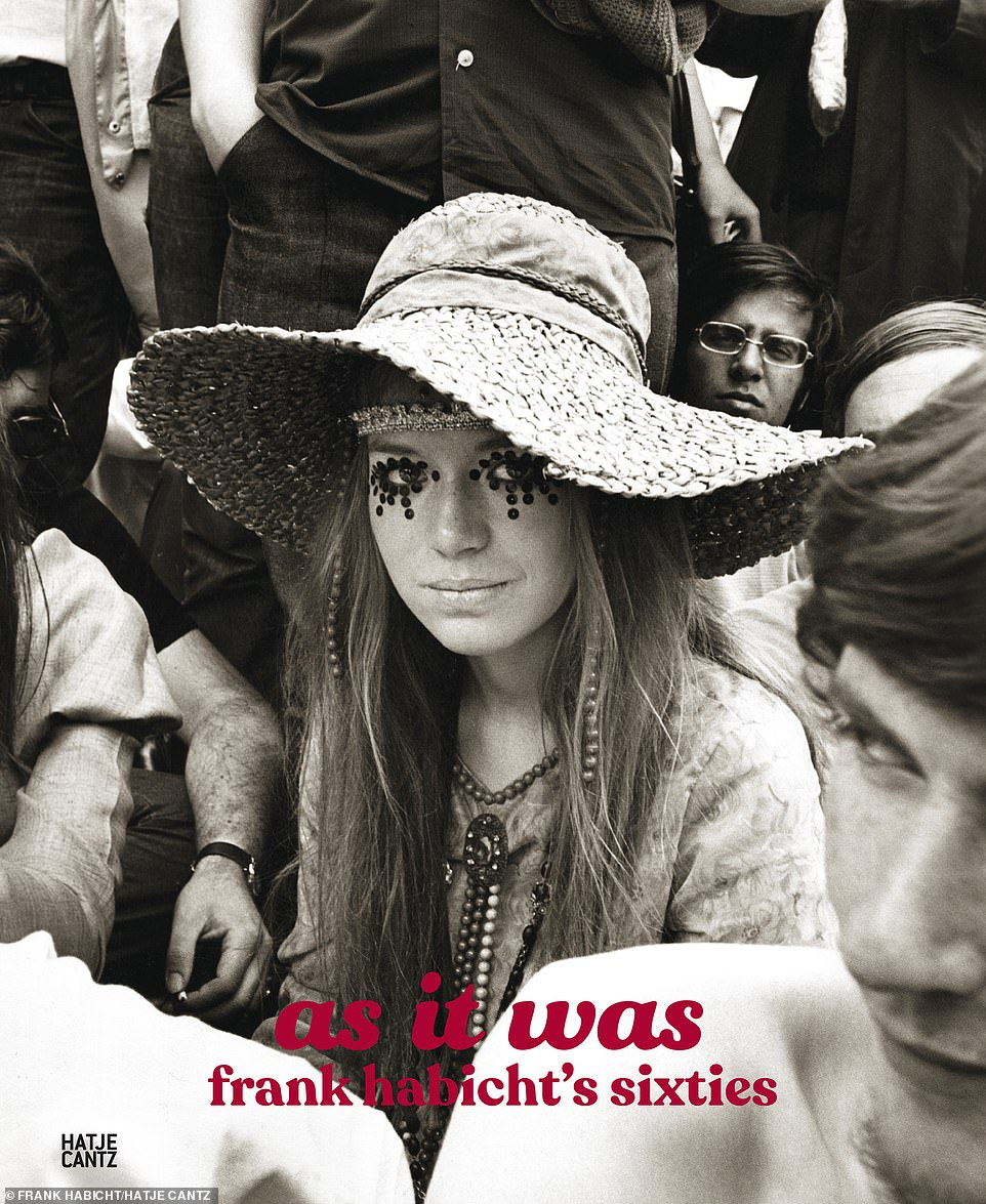 Flower Power: A young girl sat among what was said to be 250,000 fellow Rolling Stones fans during their infamous 1969 Hyde Park concert, performed just two days after their guitarist Bryan Jones was found dead in a swimming pool