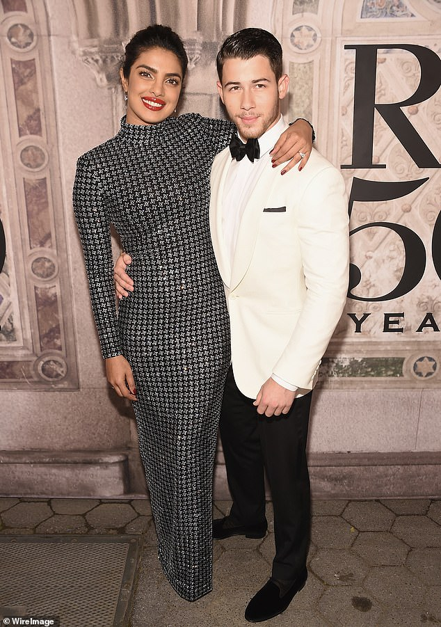 Newlyweds: Away from work the star has been in the headlines this week following her extravagant wedding to US singer Nick Jonas over the weekend in Jodhpur, India