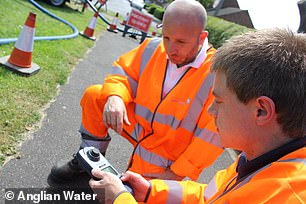 Above: Anglian Water offers water and water recycling services in Eastern England