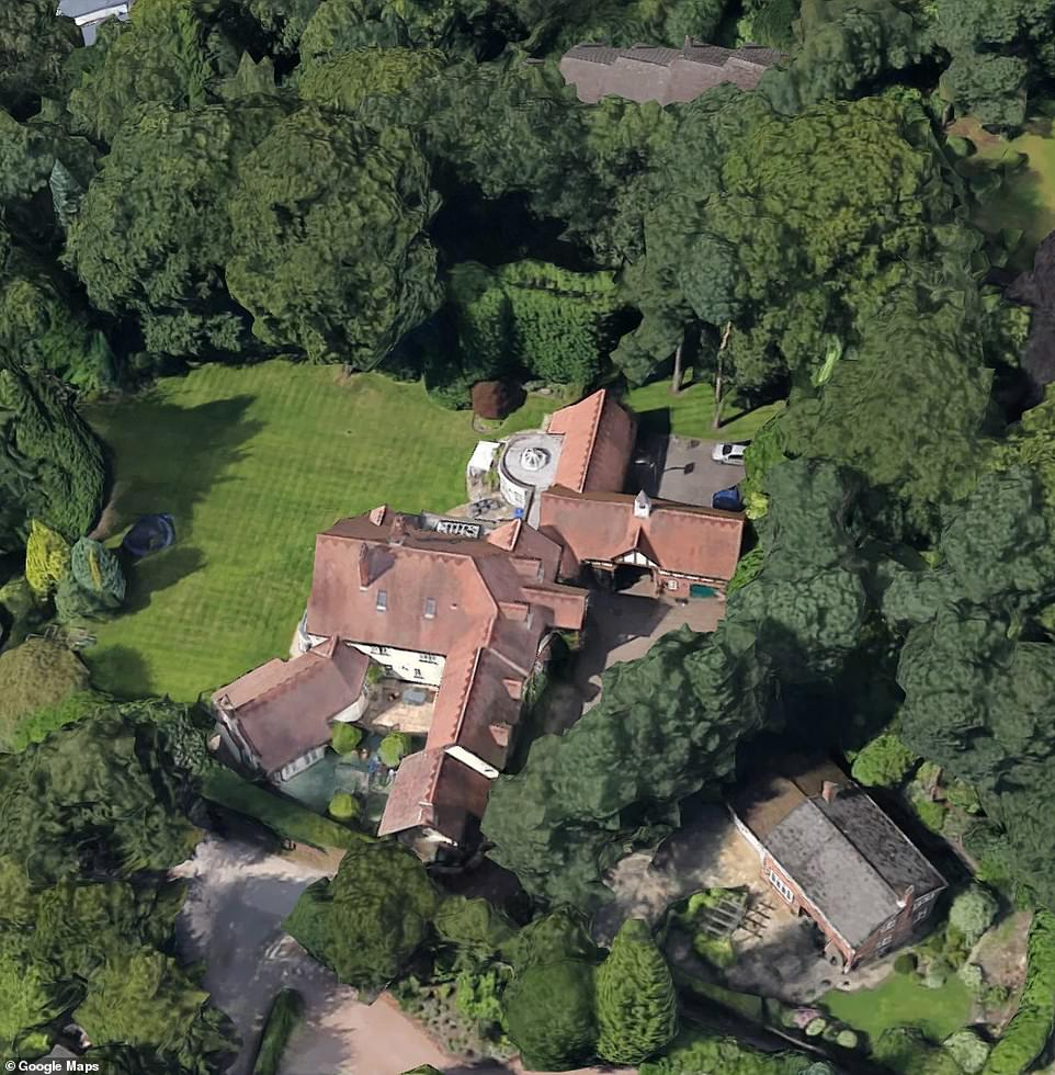 Prime location:The period home includes 1.5 acres of lawns, and two garages and of course it's in the prime footballer's location of Alderley Edge