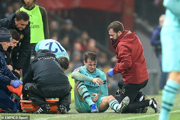 The central defender suffered a severe knee injury in a 2-2 draw at Manchester United