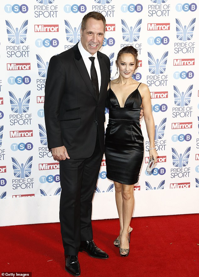 David Seaman and wife Frankie Poultney were also present at the Pride of Sport awards