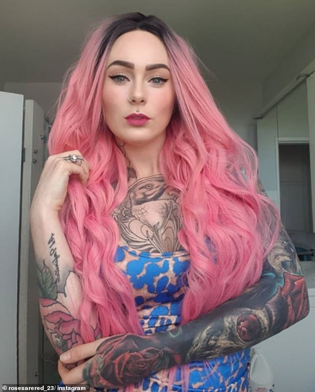 The 30-year-old doesn't know how many tattoos she has because rather than having individual pieces her body is now a cohesive canvas