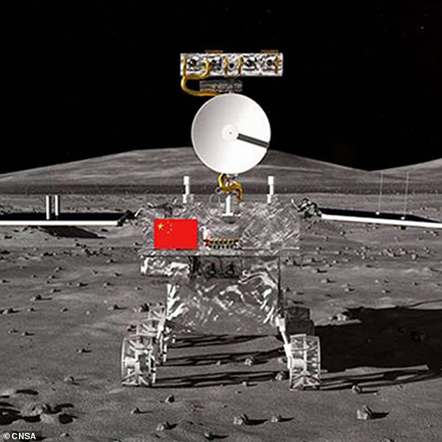 The Chang'e-4 (artist's impression pictured), has today entered lunar orbit and will be the first ever rover to land on the far side of the lunar surface. A lander will help guide the spacecraft to the dark side of the moon