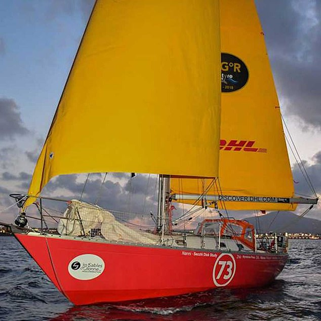 Susie is currently sailing aRustler 36 class yacht (pictured) in theDHL Golden Globe round the world race