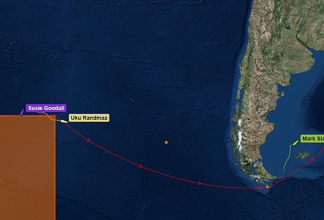 Her boat was in the middle of the Pacific ocean when the incident occurred yesterday morning
