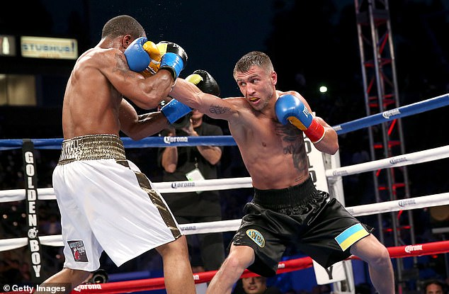 Lomachenko claimed his first world title against Gary Russell Jr. in 2014 in just his third fight