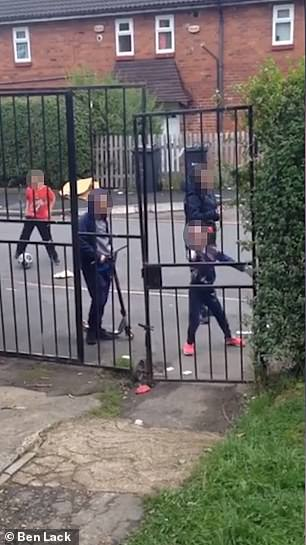 One of the children asks if the people filming are going to call the police as the video comes to an end