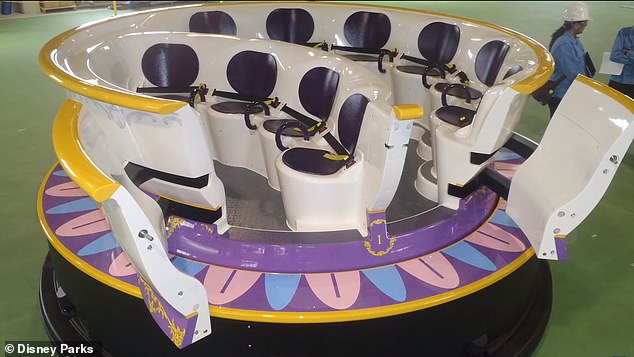 'Enchanted Tale of Beauty and the Beast' has people traveling through  animated vignettes in autonomous teacups that tilt, swivel and glide as if they're dancing along with the music