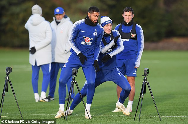 Ruben Loftus-Cheek, Andreas Christensen and Danny Drinkwater also tested their speed