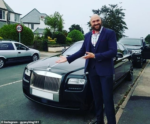 Travel in style: Fury has moved from a trailer to a Rolls-Royce thanks to his achievements in the ring