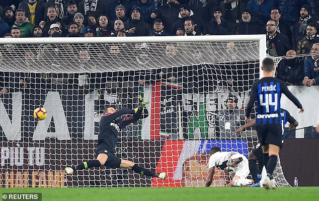 The goal was a good header on the far post: the eighth away goal from Mandzukic this season