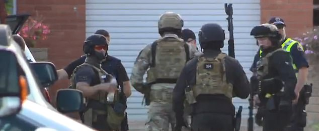 Tasmania Police Commander Brett Smith told the ABC about 34 police officers had been deployed to deal with the situation at any one time