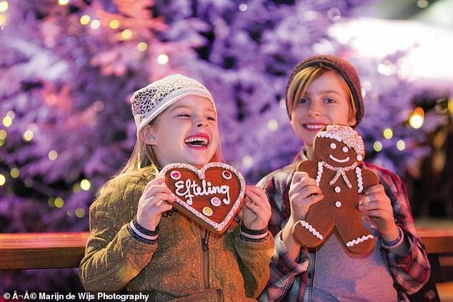 Winter Efteling runsfrom November 12 to January 31 (stock image of children at the festival)