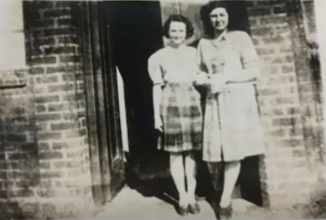 Dorothy at the age of 15, with her mother in 1946, the year she looked for a job at Rover, who built the Land Rover in Solihull