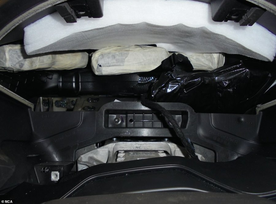Criminals have found a number of ways of getting guns across the channel. This one was hidden in a car dashboard