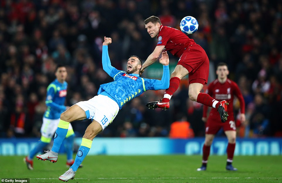 James Milner busied himself in midfield and was combative throughout for Jurgen Klopp's side