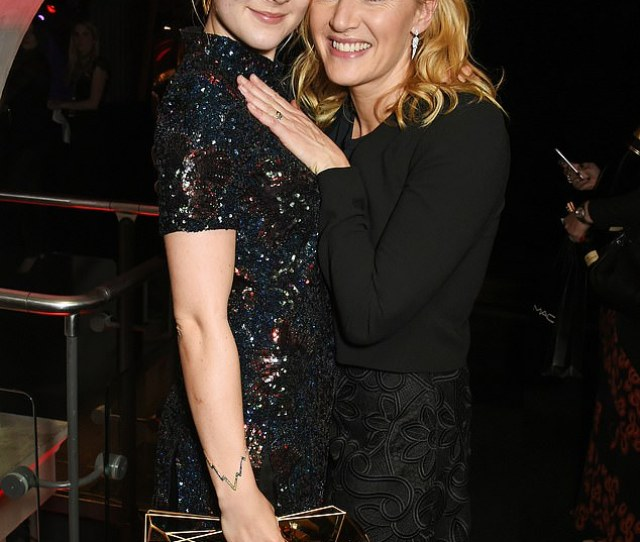 Saoirse And Kate Saoirse Ronan And Kate Winslet Seen At The Moet British Independent