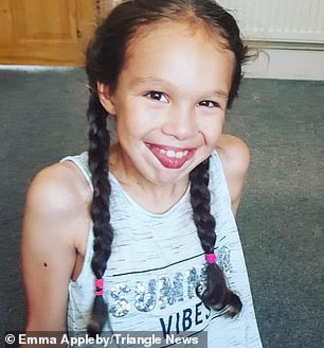 Teagan Appleby used to have up to 300 seizures a day with doctors saying she had one of the worst cases of epilepsy they had ever seen. Since starting to take cannabis oil in July, she has only had seizures at night, not during the day. She is pictured before she started taking the oil