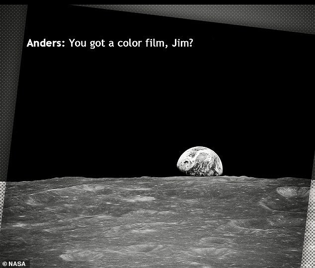 Anders snapped the iconic Earthrise photo during the crew's fourth orbit of the moon, switching from black-and-white to color film to capture the planet's exquisite, fragile beauty