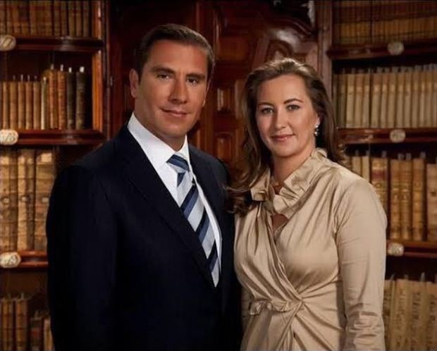 Mexican governor Martha Erika Alonso (right) was killed in a helicopter crash Monday alongside her spouse Rafael Moreno Valle Rosas (left)