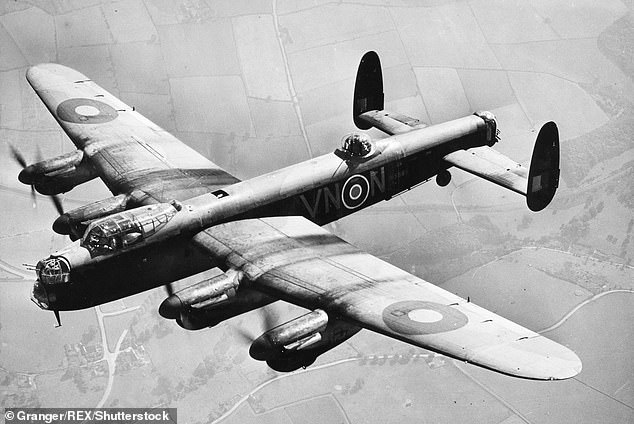 An Avro Lancaster Bomber Aircraft Of The British Royal Air Force (pictured above)