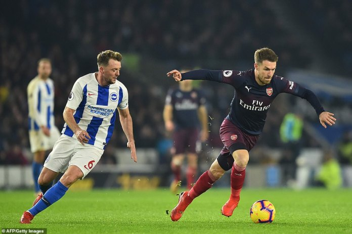 Welsh midfielder Aaron Ramsey was brought on to spark some life into an ailing Arsenal but in the end he proved ineffective
