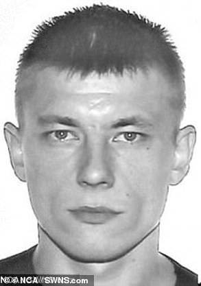 Aivaras Vysniauskas (pictured) and Gytis Vysniauskas, were sentenced to a total of 25 years in prison after the haul of Russian weapons were discovered in their specially-adapted Peugeot