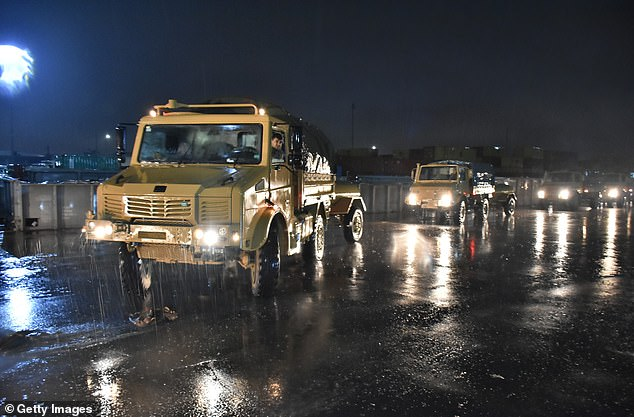 Turkish military vehicles and personnel carriers are being dispatched to support units at the Syrian border