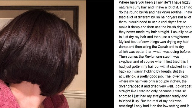 This delighted buyer wrote, 'Where have you been all my life?' She explained that she normally dries her hair with a conventional dryer before smoothing out her tresses with a straightener