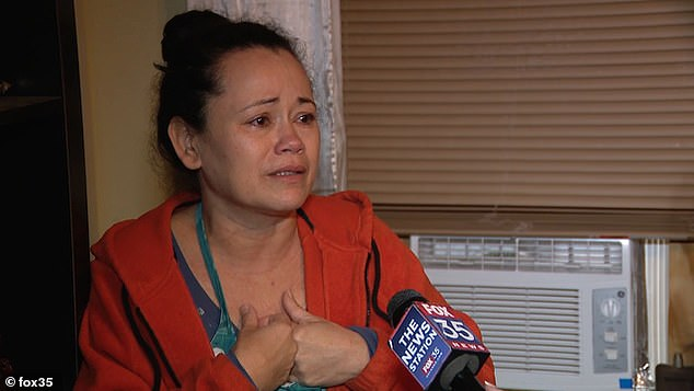 Velasquez's tearful motherRosaura Ventos defended her son saying: 'He thought he was doing the right thing' and that he hated domestic violence after seeing her deal with it