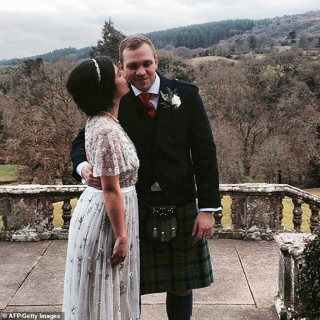 Matthew Hedges (right) with his wife Daniela Tejada (right) have struggled to get back to normality following the incident