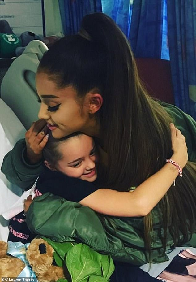 Sweet: Ariana was praised for her response to the attack which took place at one of her concerts, visiting some of the survivors in hospital