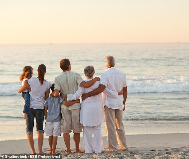 British families are being urged to take grandparents on holiday with them like their Mediterranean counterparts, the Government's 'minister for loneliness' has suggested. Stock pic
