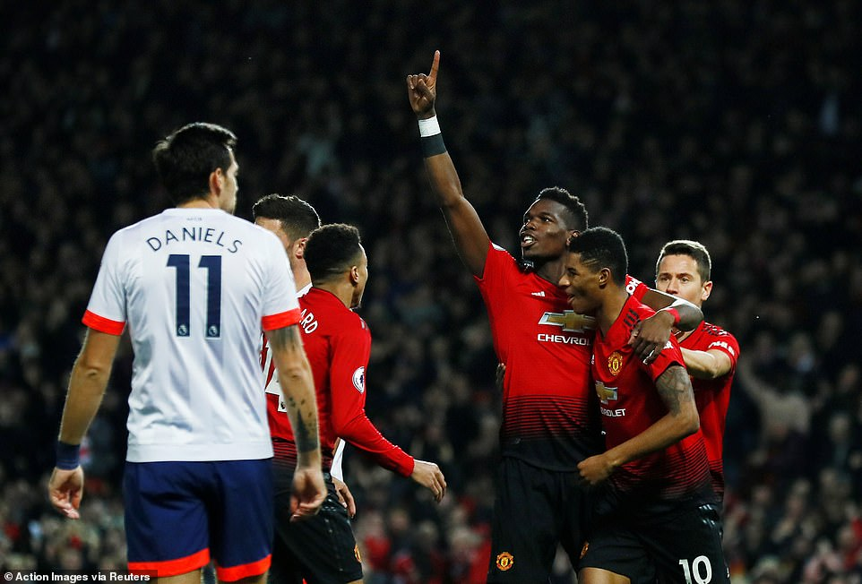 He was quick to run over and thank Rashford for assisting the opening goal after he split the Bournemouth defence brilliantly