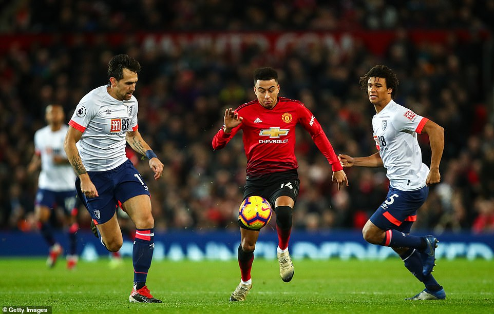 Jesse Lingard has excelled so far under Solskjaer and was again a threat going forward as Bournemouth watched him closely