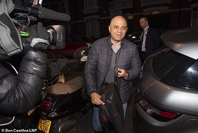 Home Secretary Sajid Javid (pictured outside his home in London this morning) has battled through a chastening fortnight including Gatwick drone fiasco and a migrant crisis